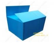 Thùng nhựa Danpla - 60x40x50cm, xanh da trời