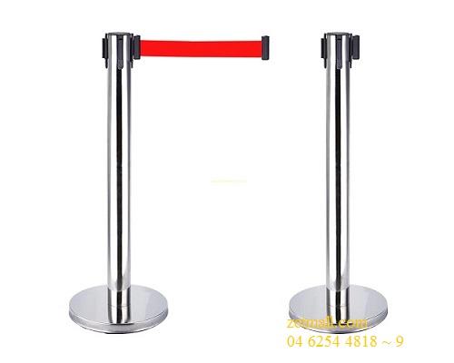 Cột chắn inox -(Ø)đế 320x(Ø)cột 61x(H) 910mm