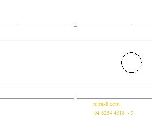 Đột dập kim loại - 90x25x8.5mm